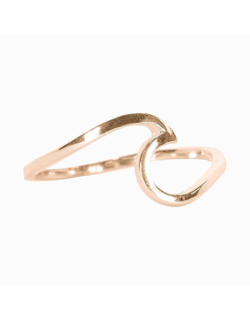 puravida Wave Ring Size 6 - Rose Gold