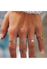 puravida Wave Ring Size 8 - Gold