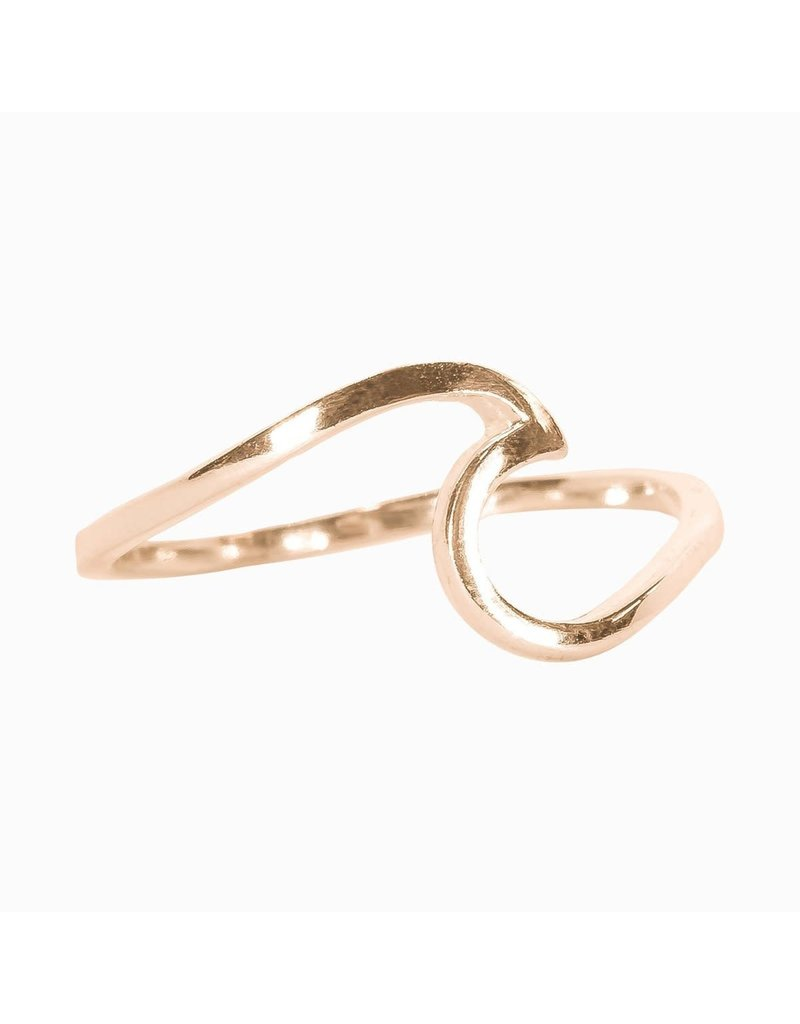 puravida Wave Ring Size 8 - Rose Gold
