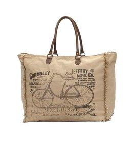 """Myra Bags S-0958 """"American By-Cycle"""" Weekender Bag"""