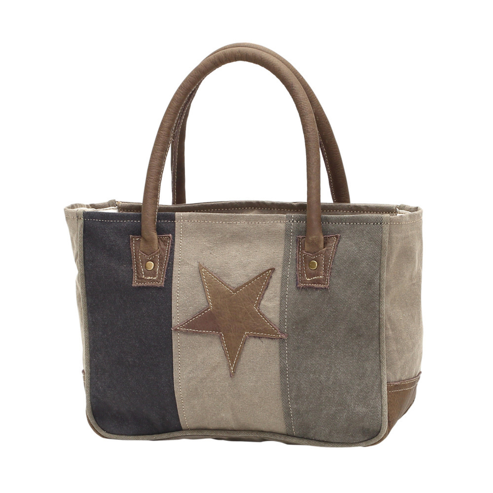 Myra Bags S-1047 Star on Canvas Small Bag