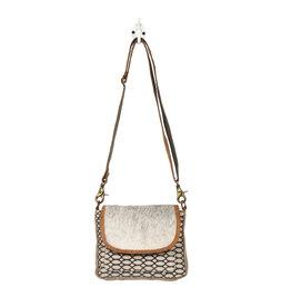 Myra Bags S-1225 Hairon Flap & Honey Bee Design Small Crossbody Bag