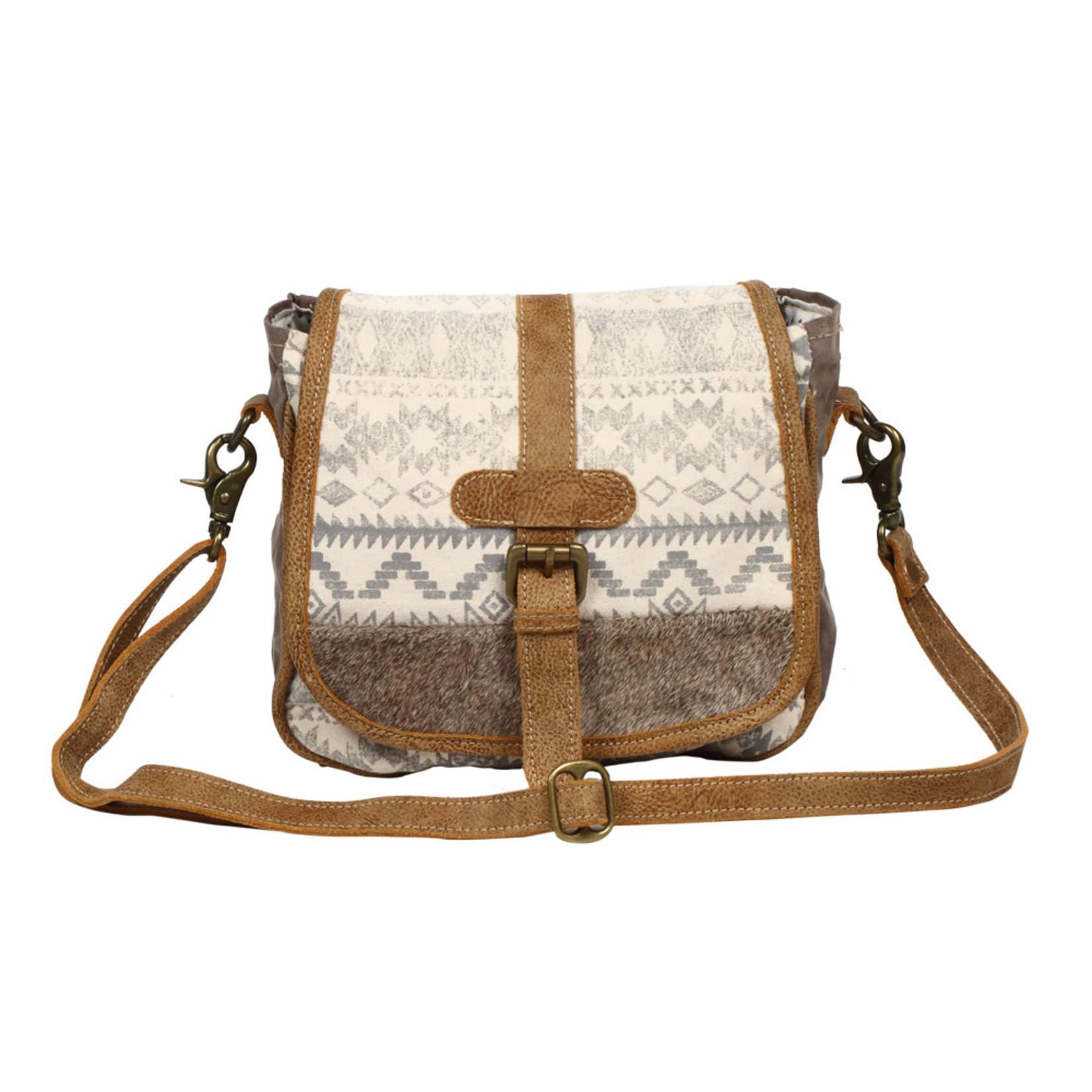 Myra Bags S-1230 Flapover & Hairon Design Small & Crossbody Bag