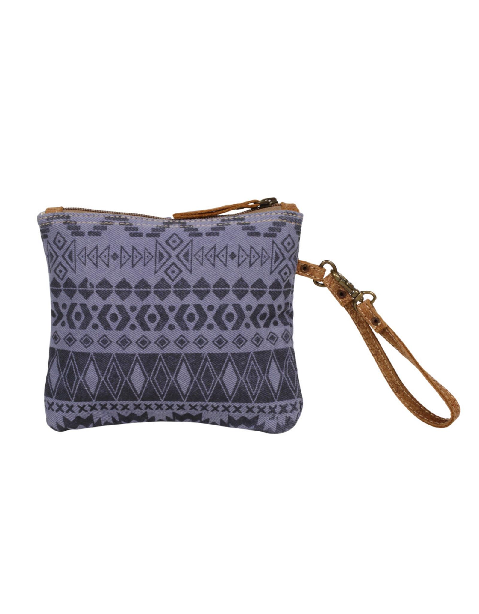 Myra Bags S-1238 Purple Tribe Wristlet