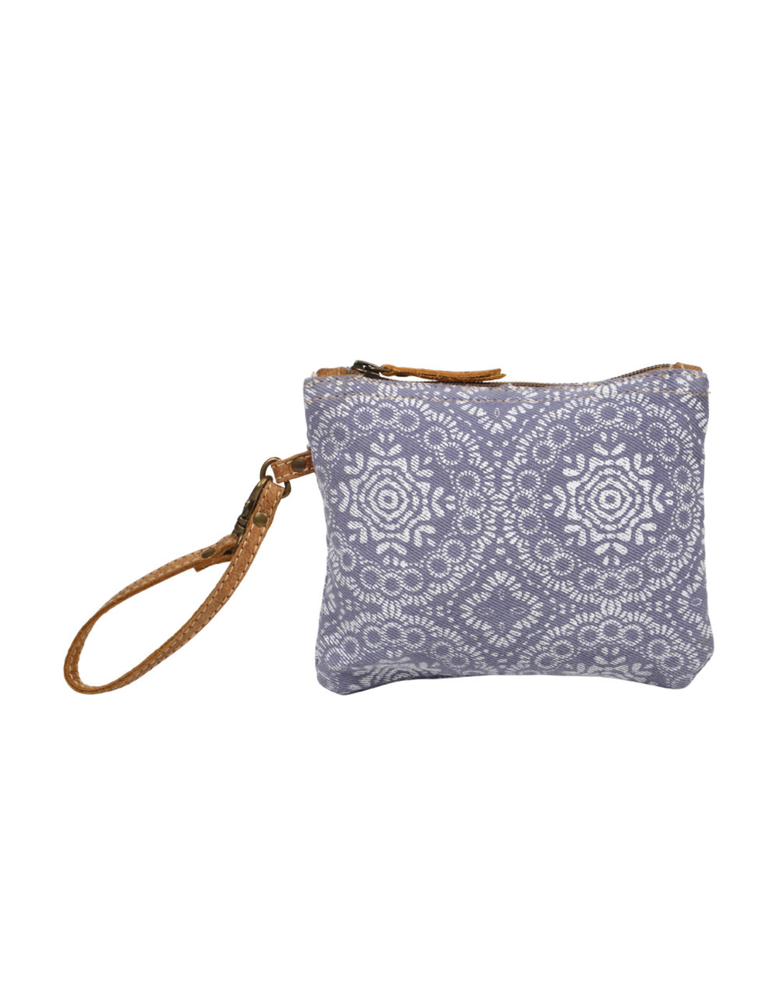 Myra Bags S-1244 Lavender Abstract Pouch