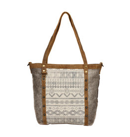 Myra Bags S-1249 Emblem Side Hair Tote Bag