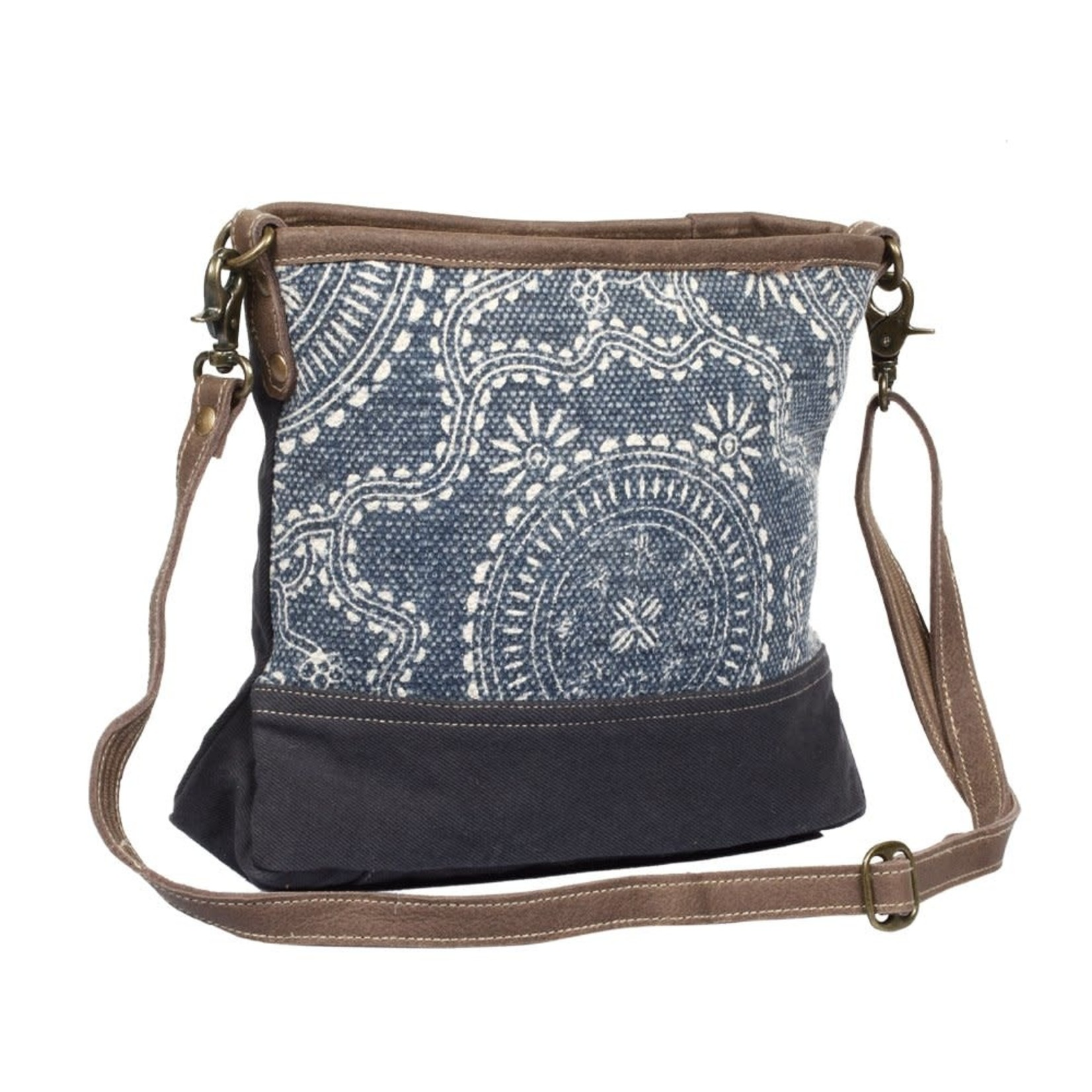 Myra Bags S-1320 Navy Kilim Shoulder Bag
