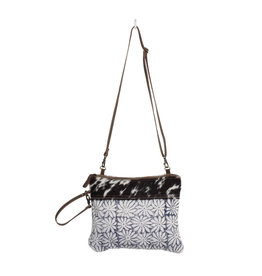 Myra Bags S-1325 Noir & Flower Rug Small & Crossbody Bag