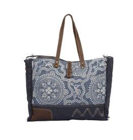 Myra Bags S-1342 Sylvan Blue Weekender Bag