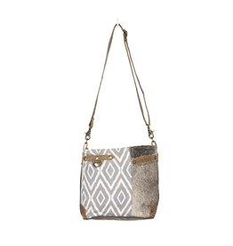 Myra Bags S-1343 Washed-Out Side Pocket Shoulder Bag
