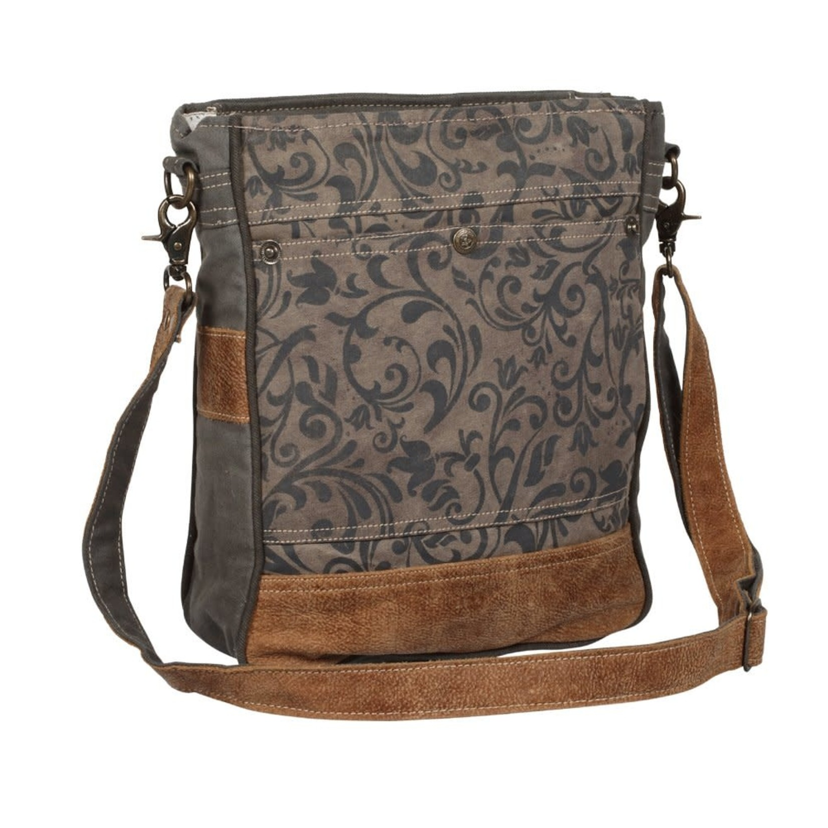Myra Bags S-1362 Walnut Pattern Shoulder Bag