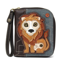 Chala Zip Around Wallet Lion