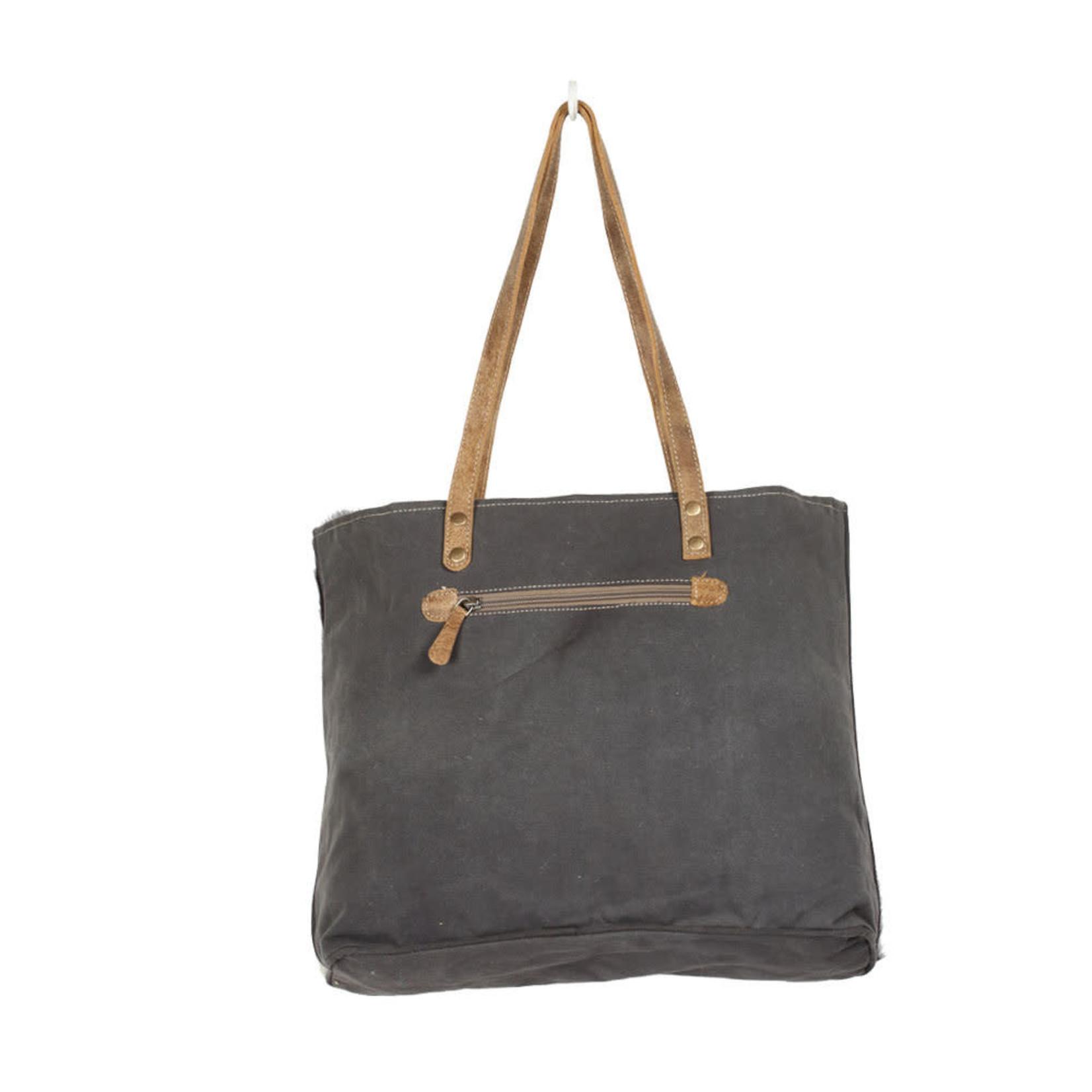 Myra Bags S-1375 Chevron Cross Design Tote Bag