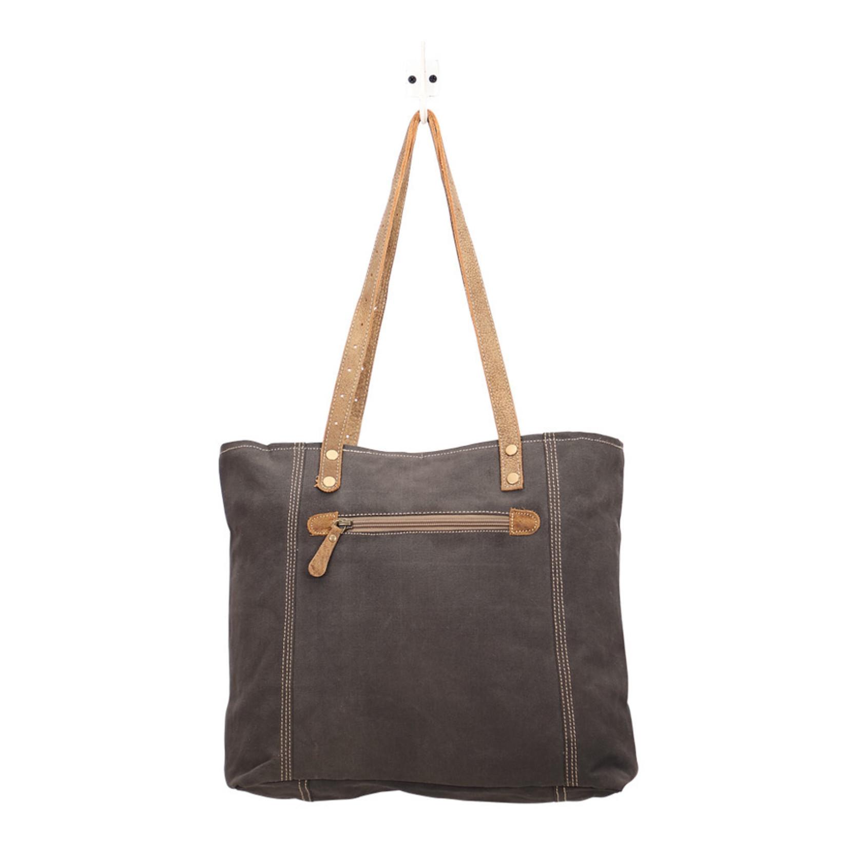 Myra Bags S-1456 Abstract Key Tote Bag