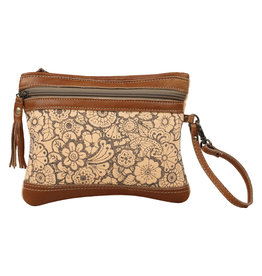 Myra Bags S-1585 Orange Sparsh Pouch Wristlet