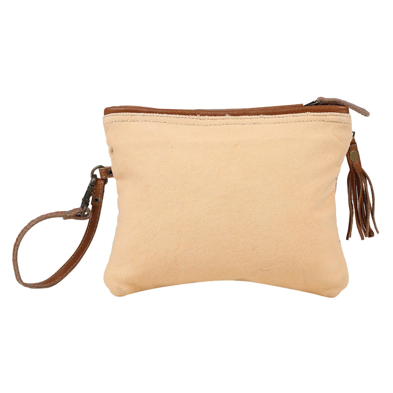 Myra Bags S-1585 Orange Sparsh Pouch Wristlet
