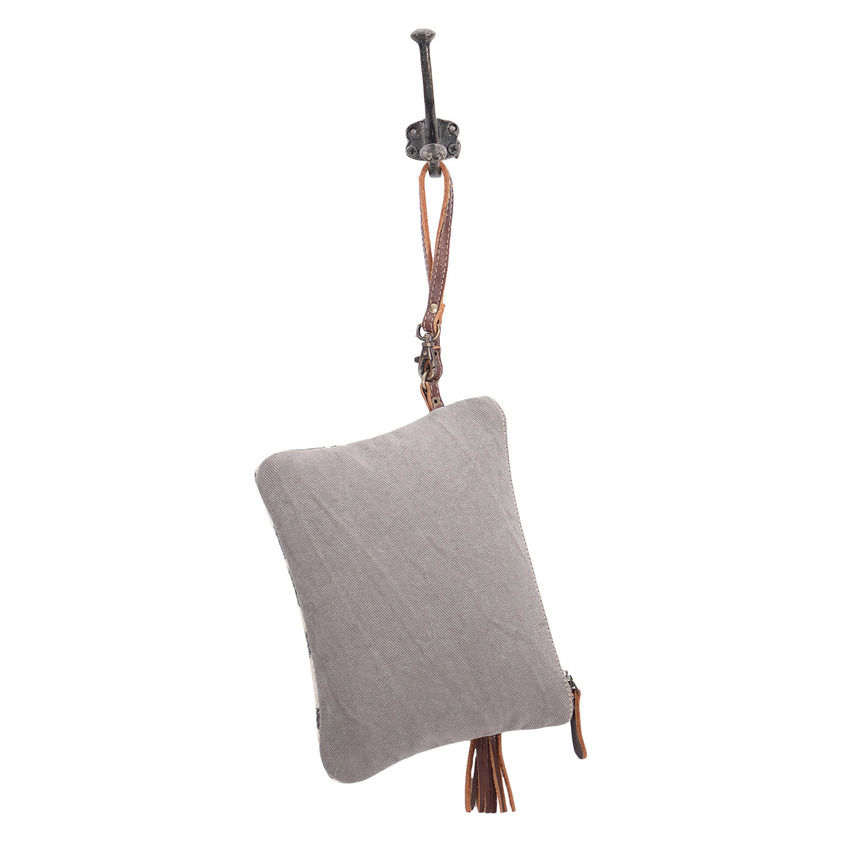 Myra Bags S-1600 Distressed Pouch Wristlet