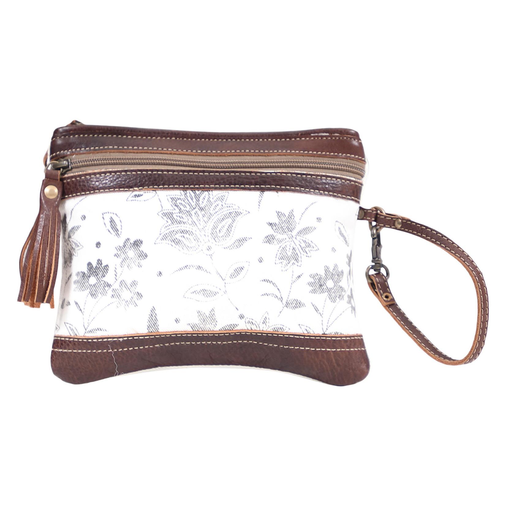 Myra Bags S-1613 Creamy Petal  Wristlet / Pouch