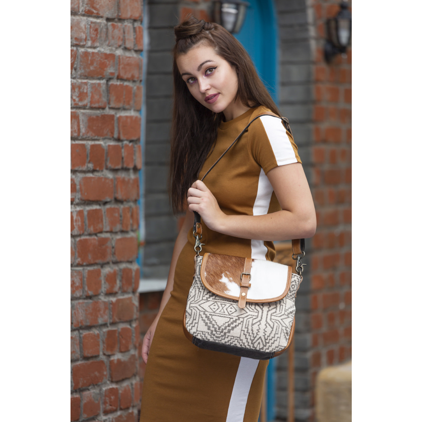 Myra Bags S-1894 Flappy Thingy Shoulder Bag