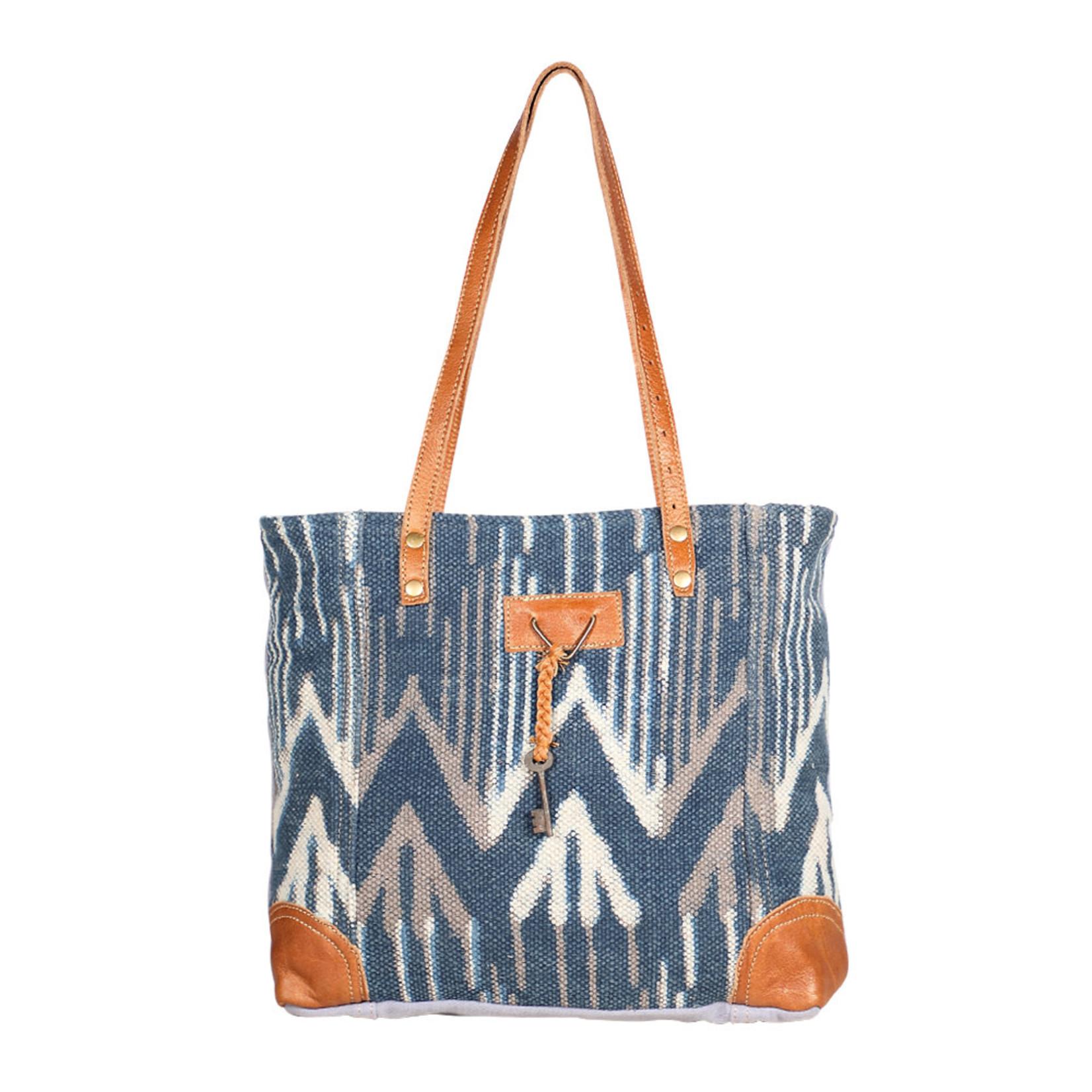 Myra Bags S-1955 Beholden Blue Tote Bag