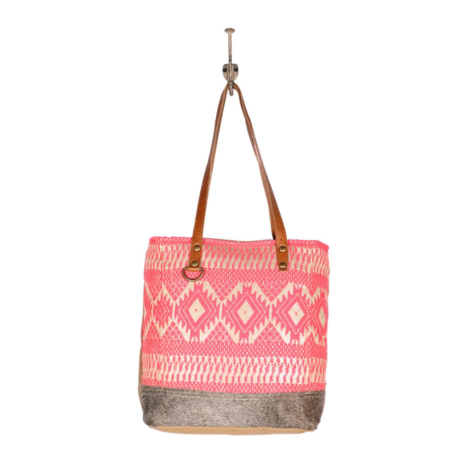 Myra Bags S-1956 Pink Blessings Tote Bag