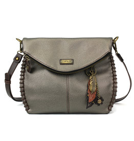 Chala Charming Crossbody - Pewter - Feather