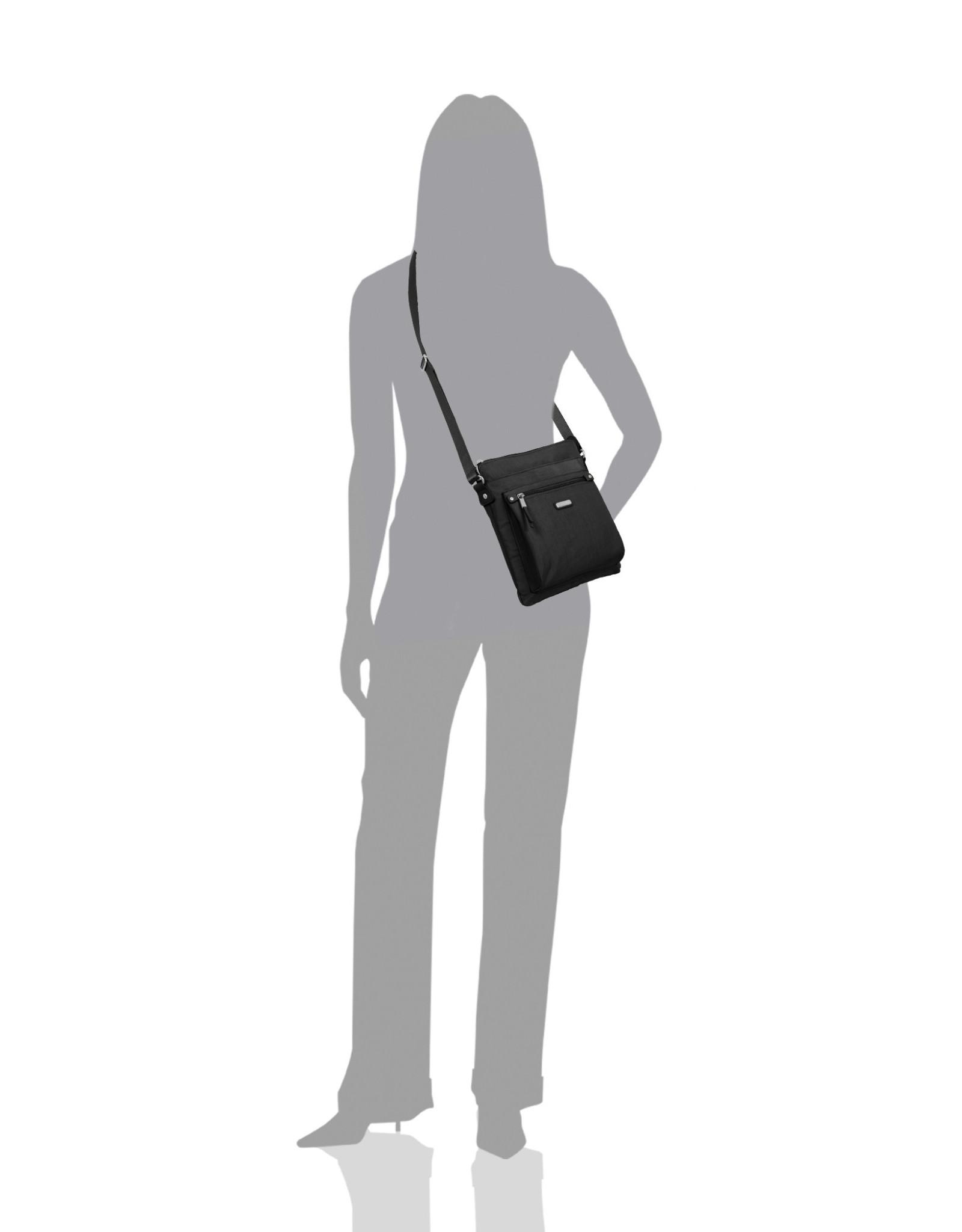 Baggallini Go Bagg with RFID Wristlet - Black