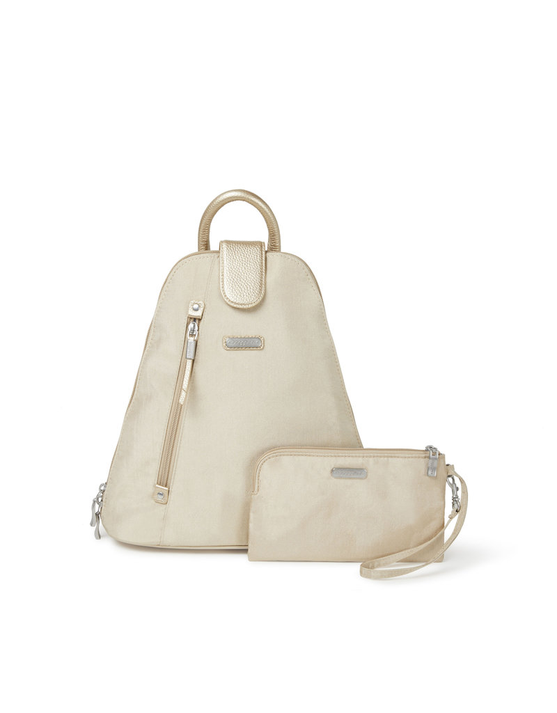 Baggallini Metro Backpack - Champagne Shimmer
