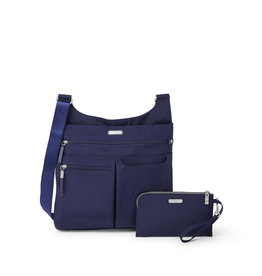 Baggallini On Track Zip Crossbody - Navy