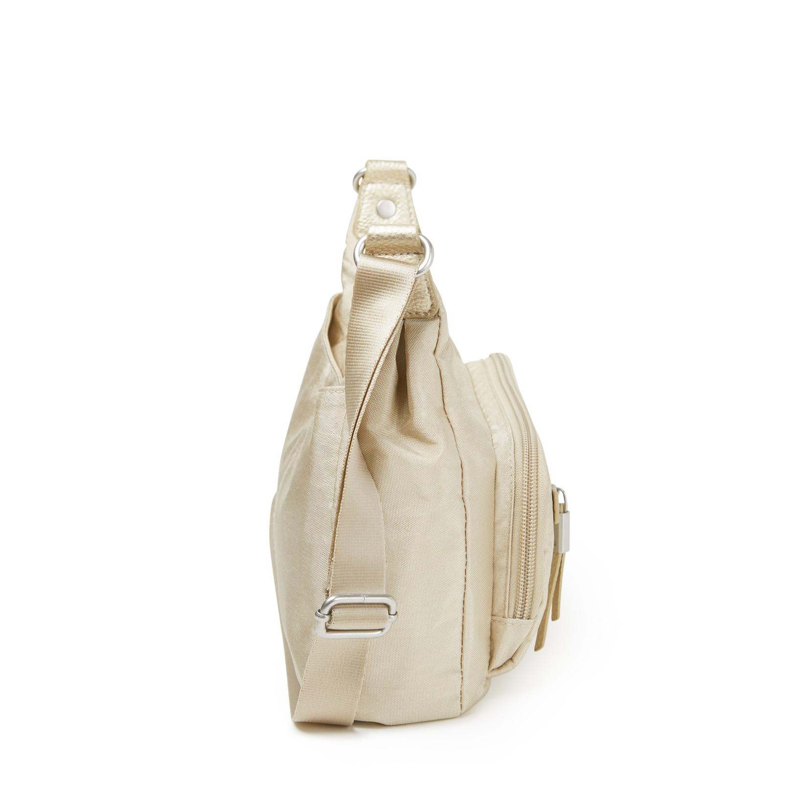 Baggallini RFID Everyday Traveler Bagg - Champagne Shimmer