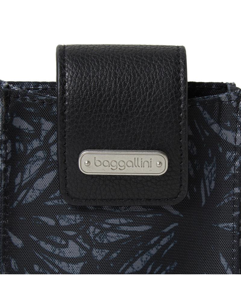 Baggallini RFID Phone Crossbody - Onyx Floral