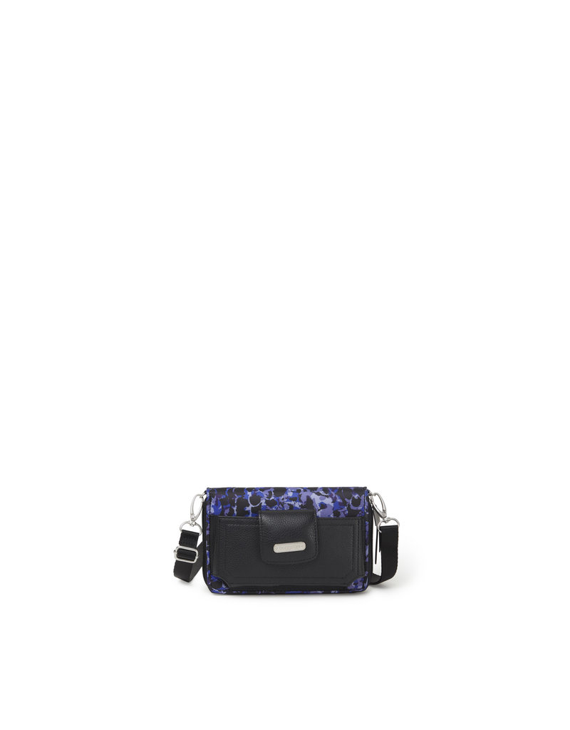 Baggallini RFID Phone Wallet Crossbody - Abstract Bloom