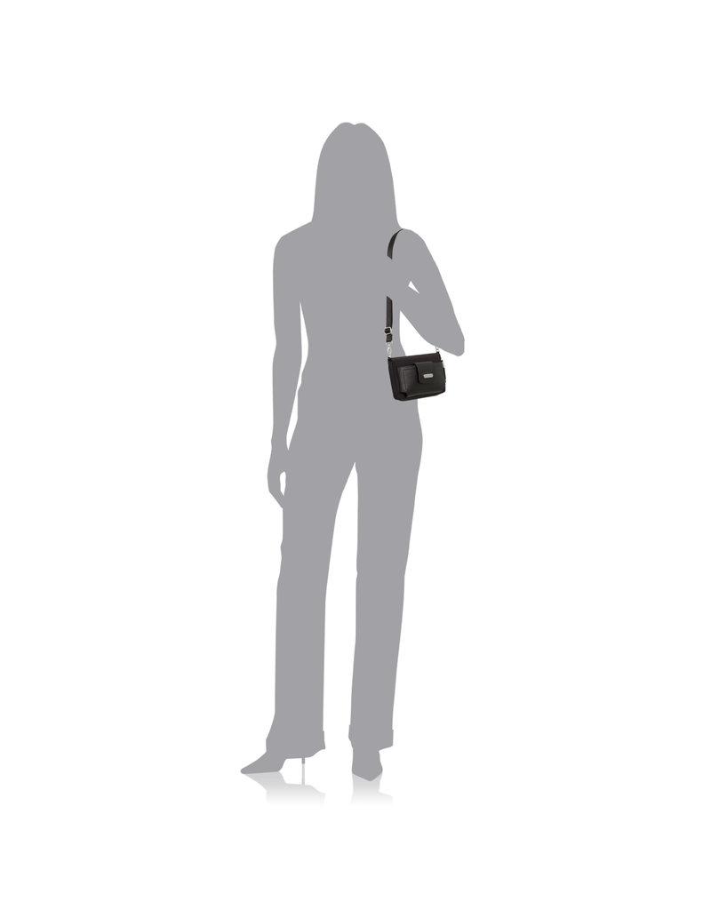 Baggallini RFID Phone Wallet Crossbody - Abstract Bloom