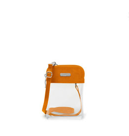 Baggallini Clear Event Compliant Bryant Crossbody - Orange