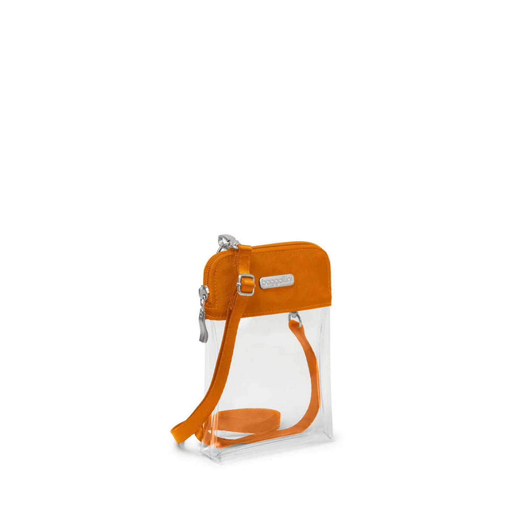 Baggallini Clear Event Compliant Bryant Crossbody - Orange