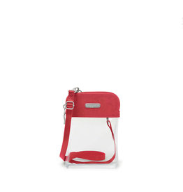Baggallini Stadium Clear Bryant Crossbody - Red