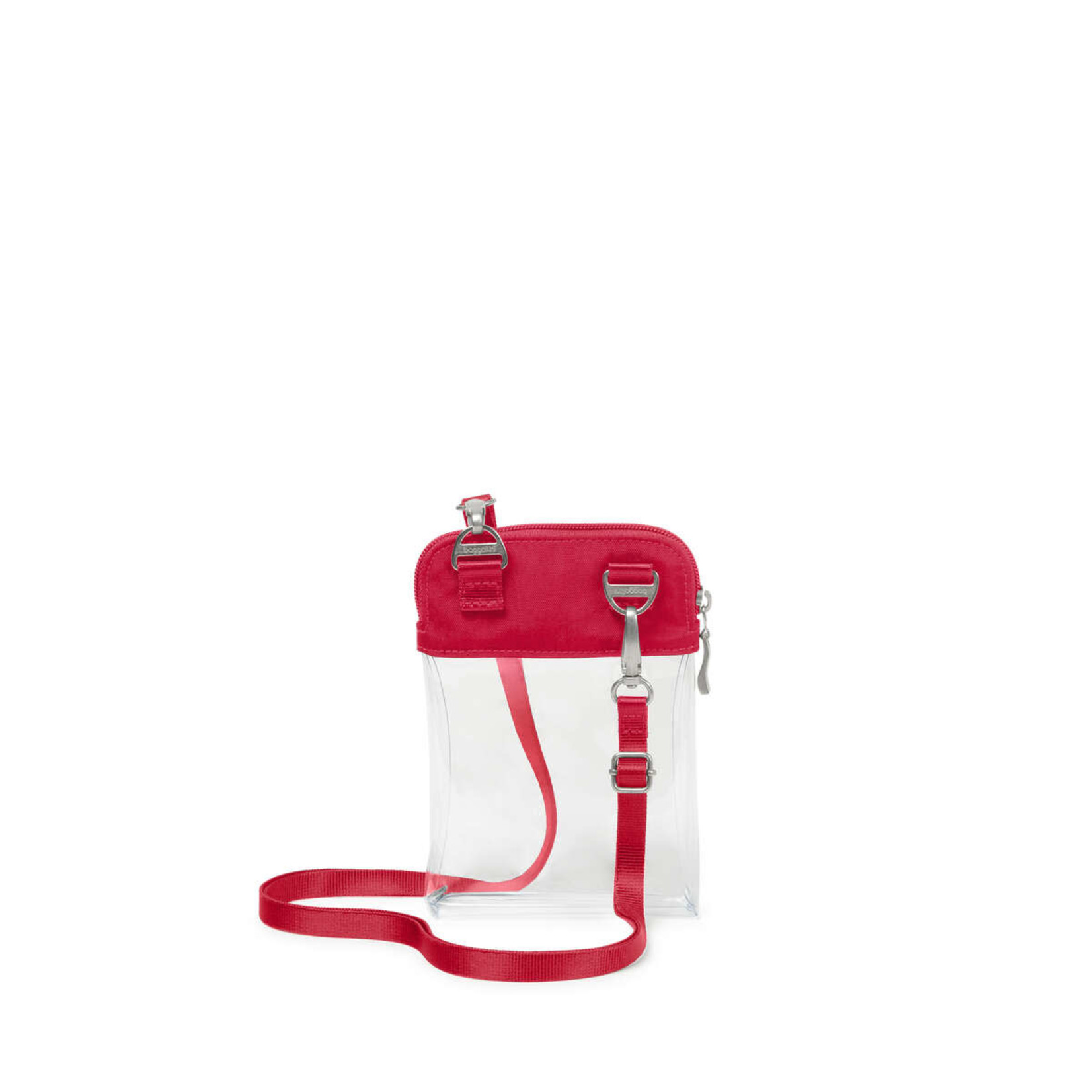Baggallini Clear Event Compliant Bryant Crossbody - Red