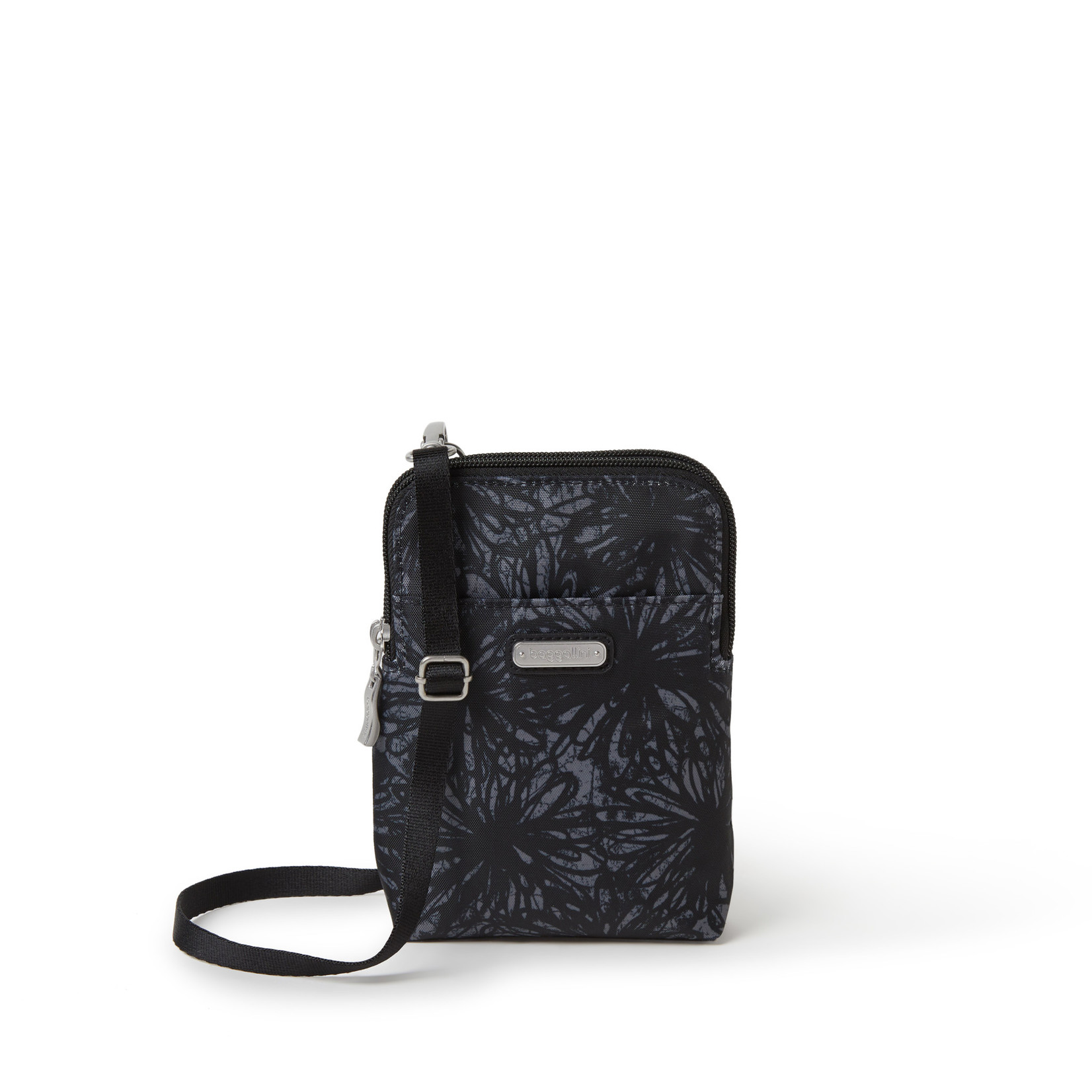 Baggallini Take Two RFID Bryant Crossbody - Onyx Floral