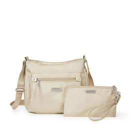 Baggallini Uptown Bagg with RFID Wristlet - Champagne