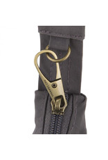 Travelon 43325-500-0080-01 AT SigEmb CrossbodyExp Bag - Black Crinkle, Teal Lining