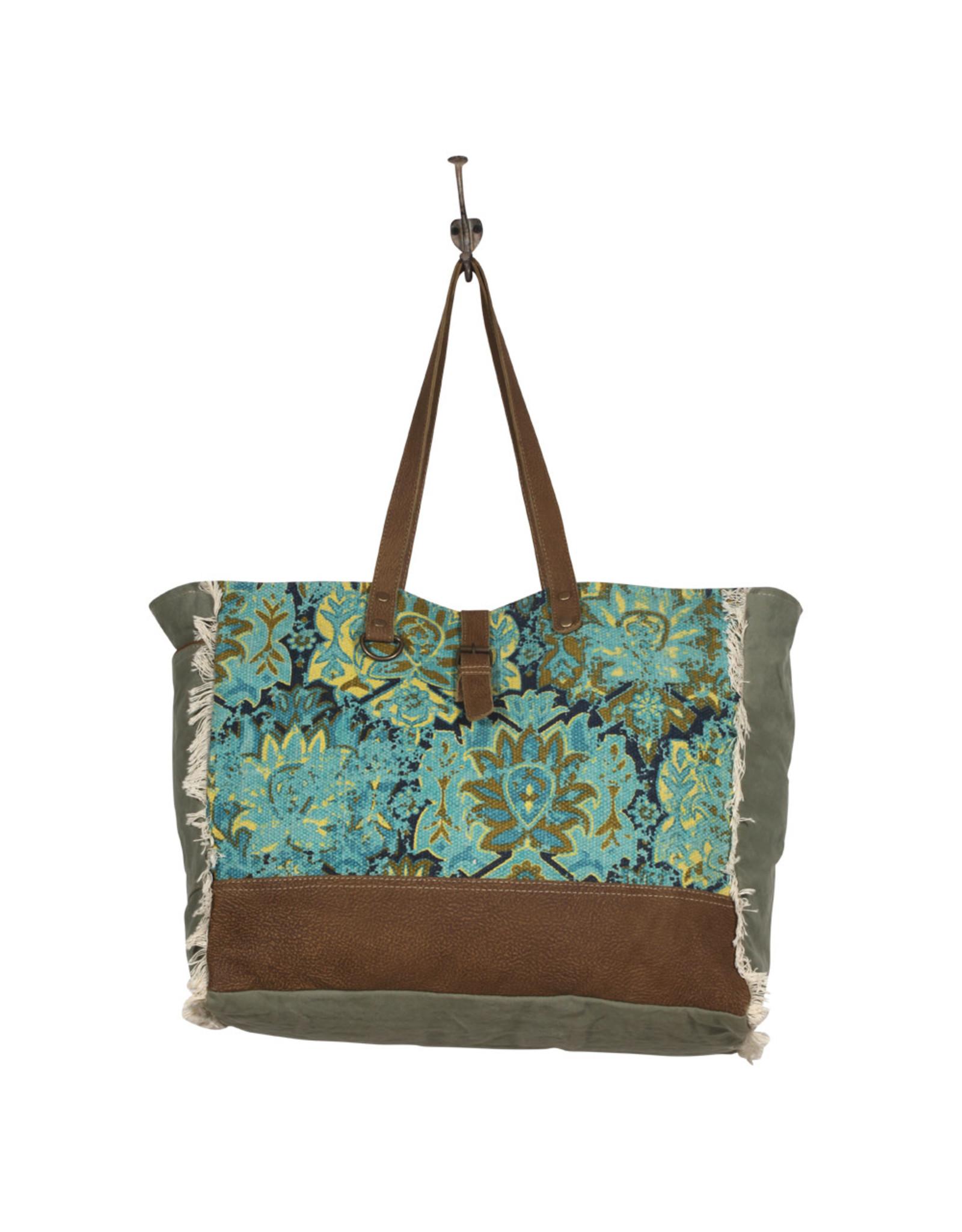 Myra Bags S-2039 Aqua Magic Weekender Bag