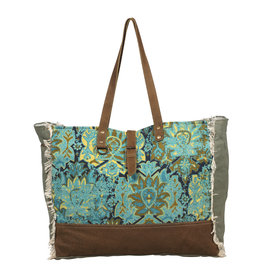 Myra Bags S-2039 Aqua Magic Weekender Bag