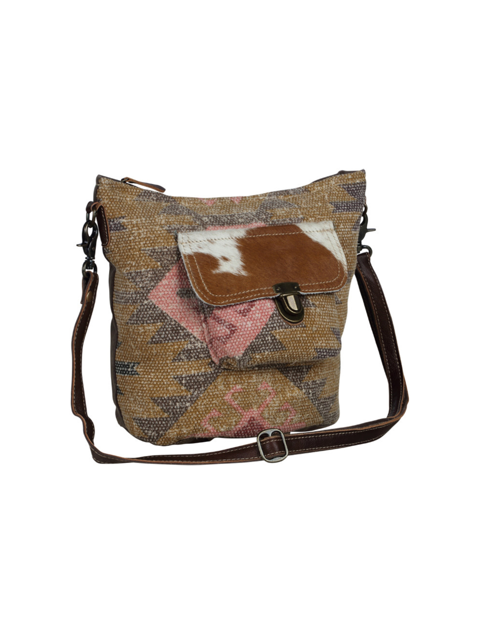 Myra Bags S-2070 Ruffled Shoulder Bag