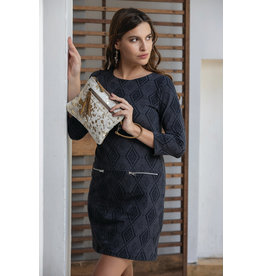 Myra Bags S-2081 Spotted Leather Pouch/Wristlet