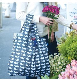 Rock Flower Paper 39-8119K Whales Grey Blu Bag