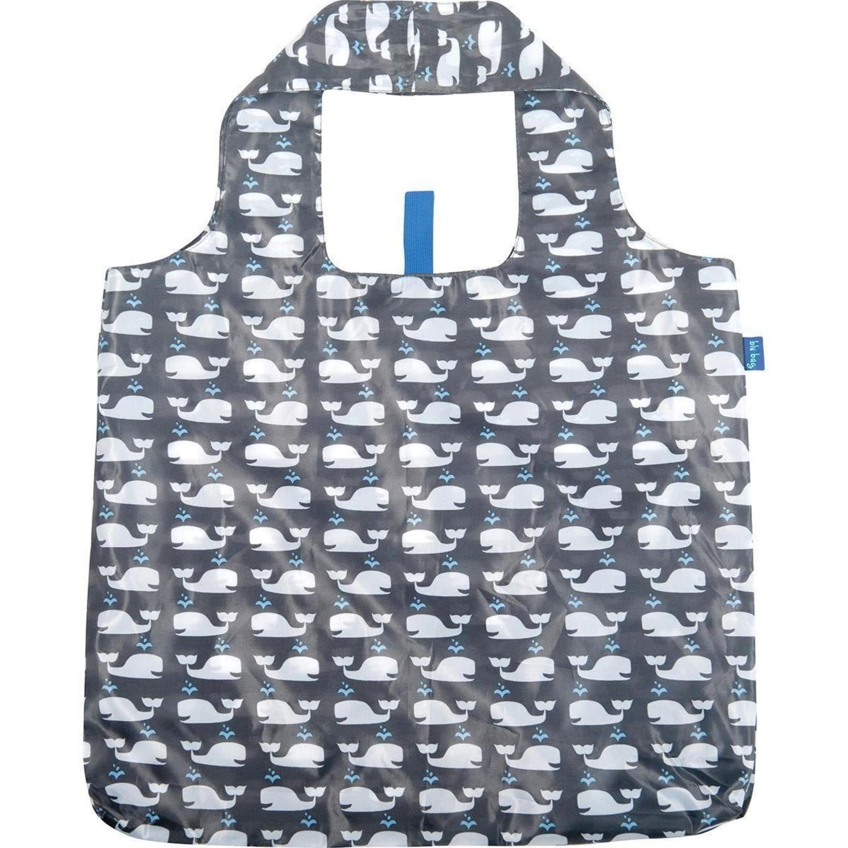Rock Flower Paper 39-8119K Whales Grey Blu Bag