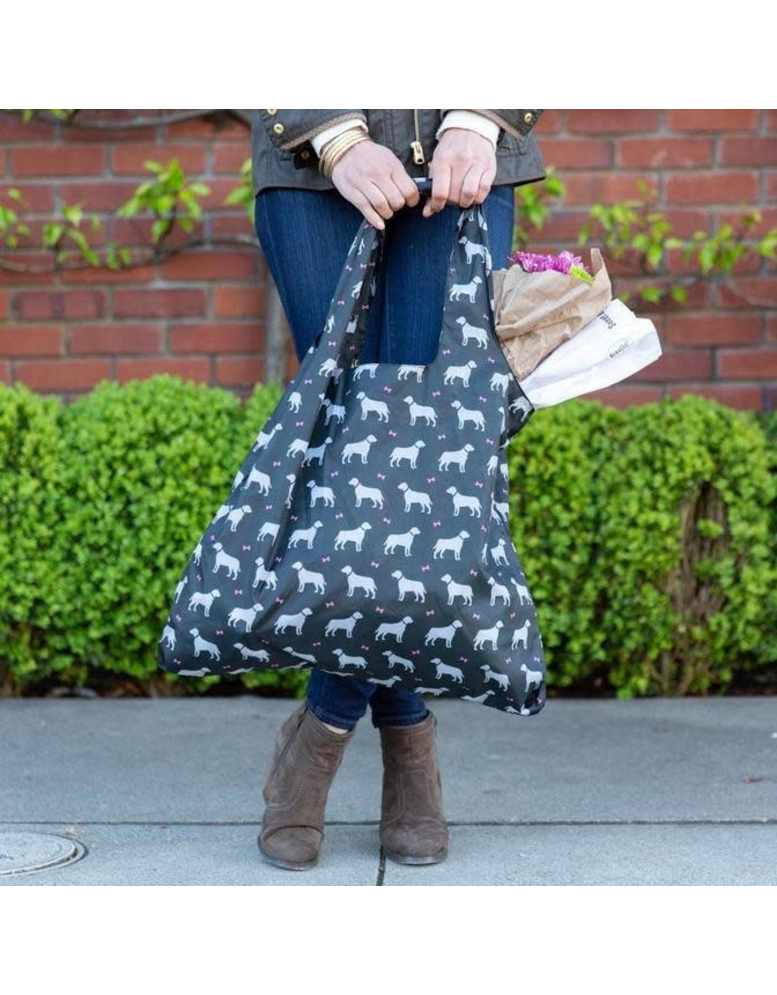 Rock Flower Paper 39-8394J Dogs Black Blu Bag