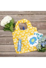 Rock Flower Paper 39-9538X Kitty Cats Yellow Blu Bag