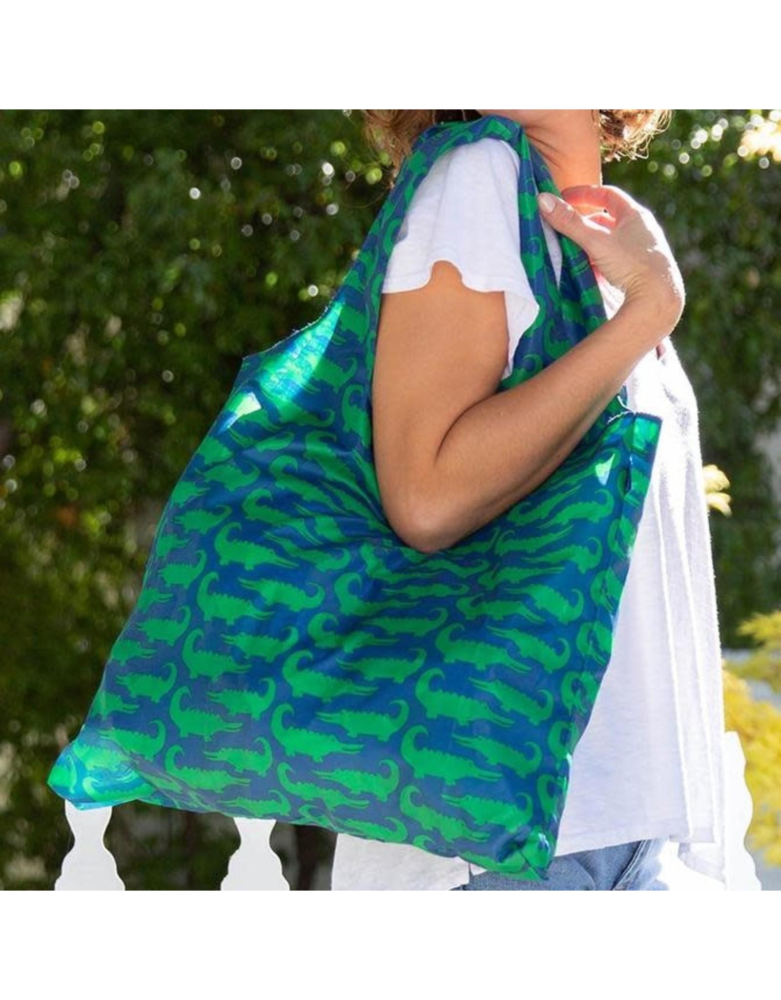 Rock Flower Paper 39-9653 Alligators Blu Bag