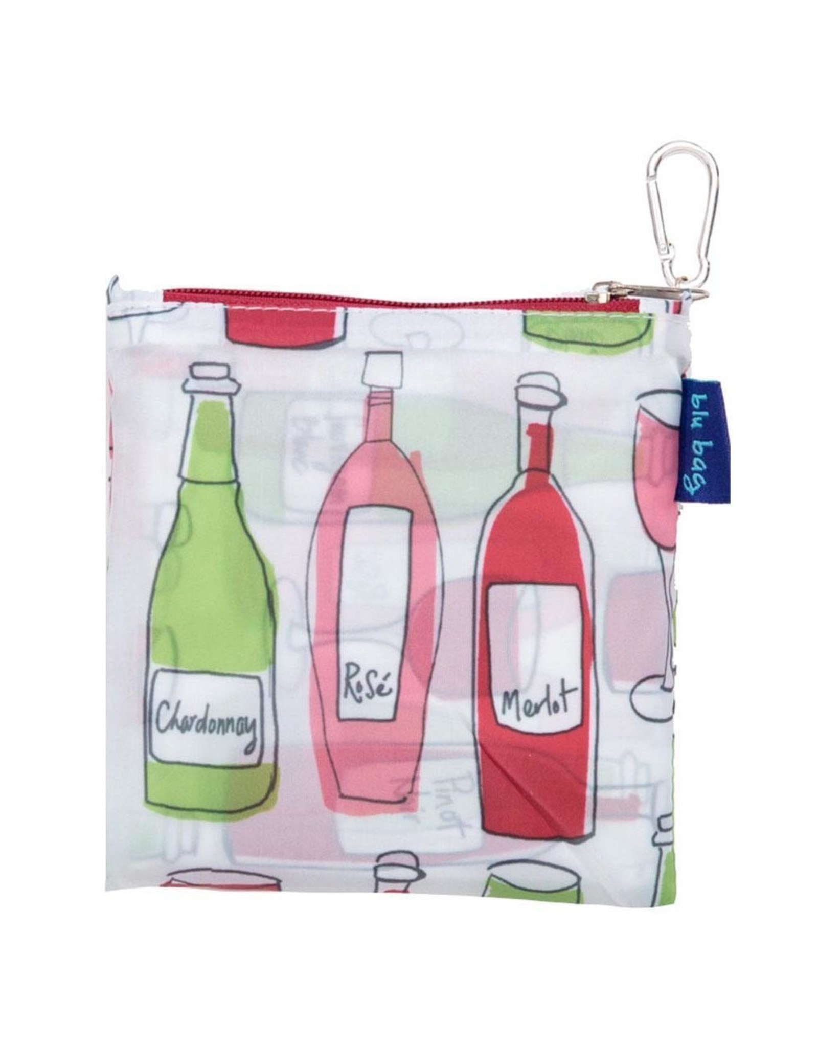 Rock Flower Paper 39-9524 Wine Blu Bag